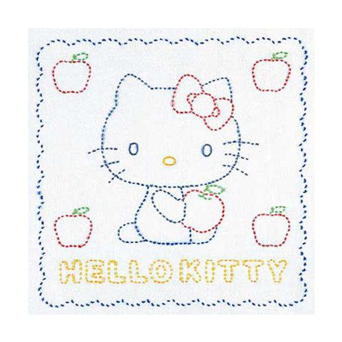 Sashiko Stitch Cloth <Hello Kitty>