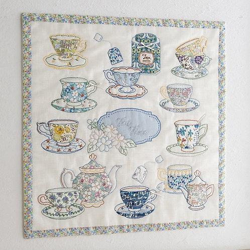 Appliqué Tapestry <Tea Cup>