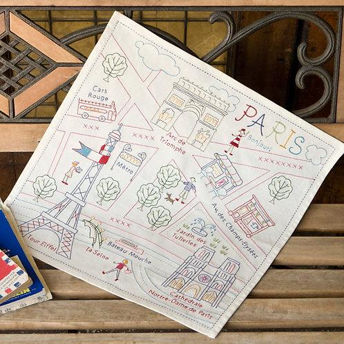 Stitch Cloth of Paris Map