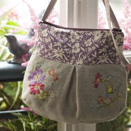 Linen «Jardin d'Eden» Shoulder Bag