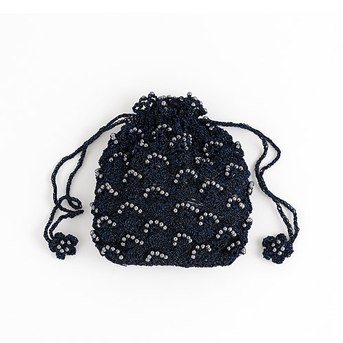 Navy Beads Pouch (Material Set)