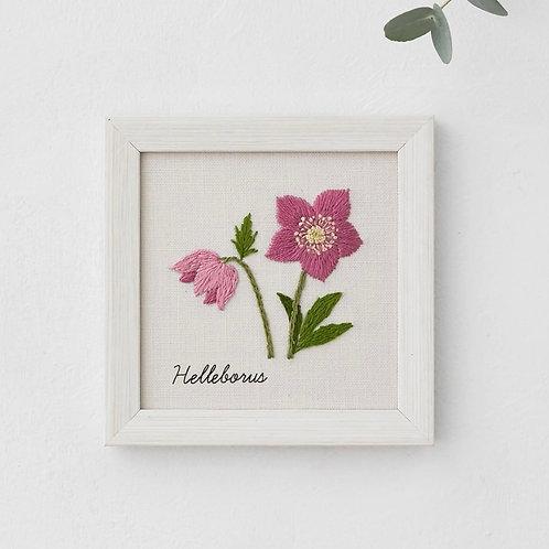 青木和子12ヶ月植物 Helleborus Embroidery Kit