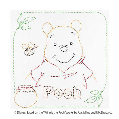Sashiko Stitch Cloth <Pooh>