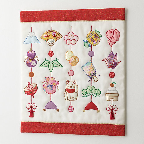 Appliqué Tapestry <New Year Hanging Decoration>