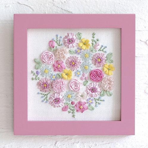 平野明子 Cross Stitch Mini Frame <Flower Bouquet>