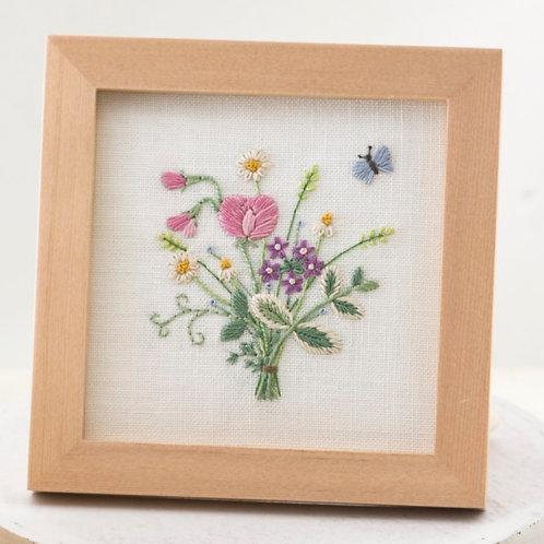Mini Frame <Sweet Pea Bouquet>