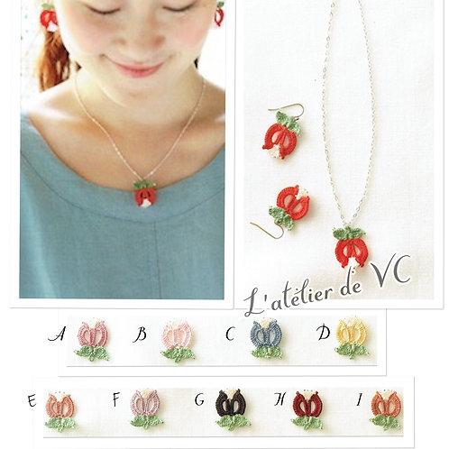 Tulip Motif Necklace & Ear Rings material kit