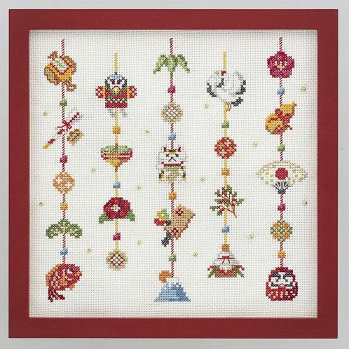 Cross Stitch Frame <New Year Decoration>