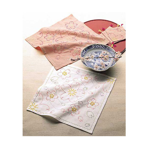 Sashiko Stitch Cloth <Sakura>