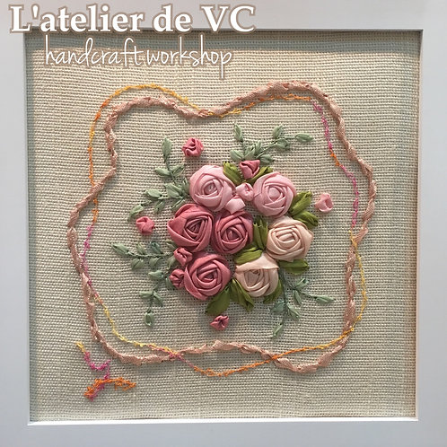 Ribbon Embroidery - Rose