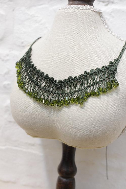 Swarovski Olive Crystal Necklace