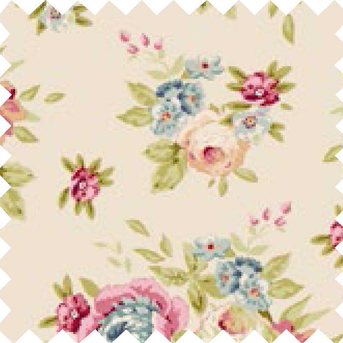 Tilda Garden Flowers Dove White Fabric (by 0.5m)