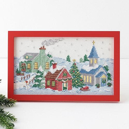 Cross Stitch Frame <Christmas Town>