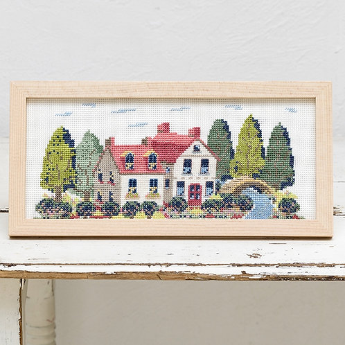 Cross Stitch Frame <House>