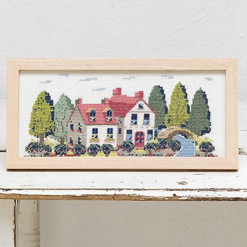 Cross Stitch Frame <House>