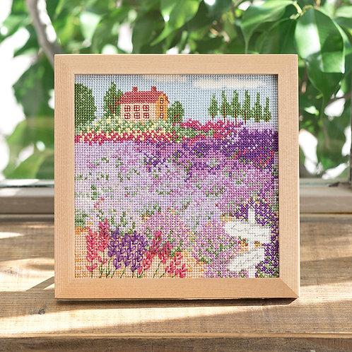 Cross Stitch Frame <Lavender Field>