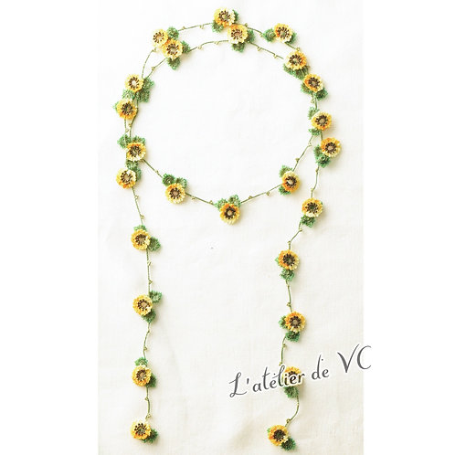 Sunflower Motif Necklace material kit