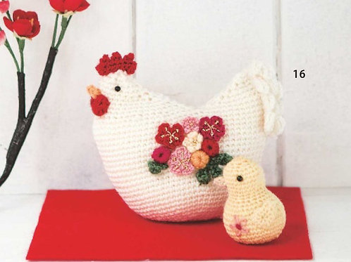 Rooster Crochet Doll