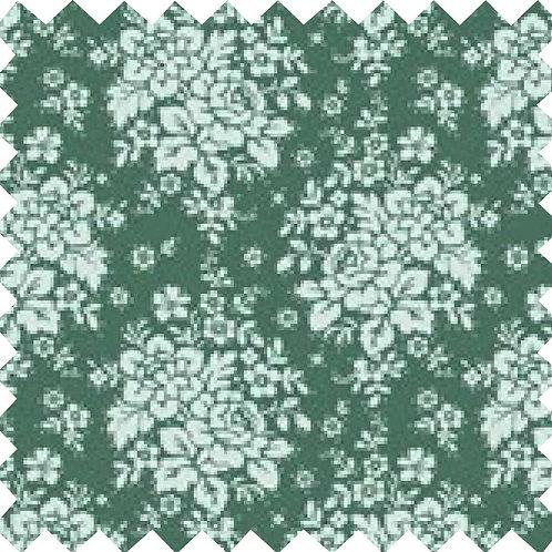 Tilda Audrey Ocean Green Fabric (by 0.5m)