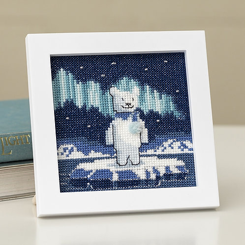 Cross Stitch Mini Frame <Polar Bear>