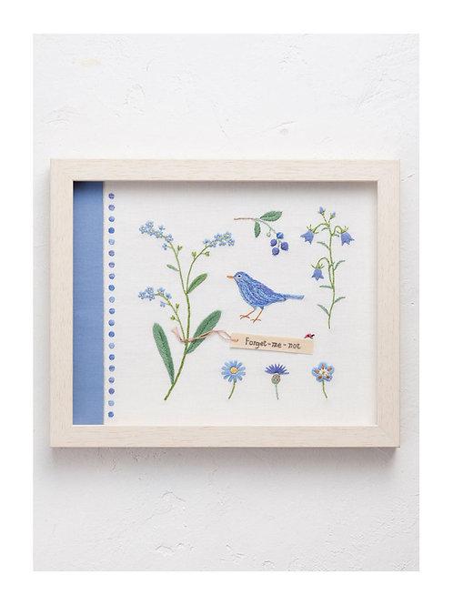 青木和子 6 Colors Embroidery Kit - Blue