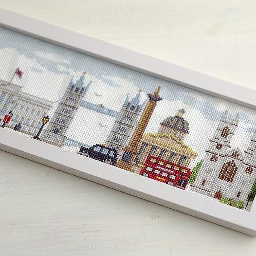 Cross Stitch Frame<A Stroll along the Thames>