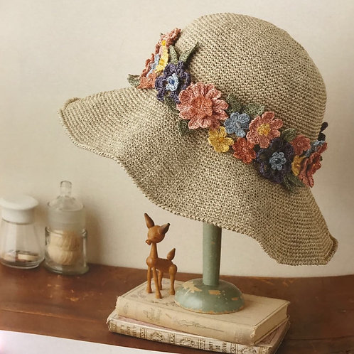 Crochet Floral Hat Material Kit