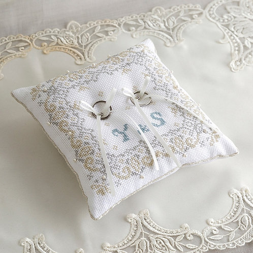 Cross Stitch Ring Pillow <Lace>