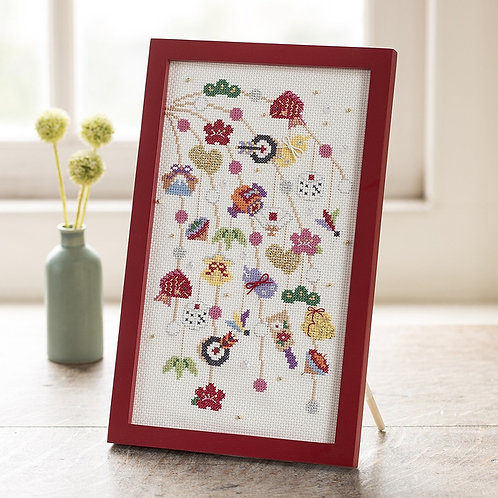 Cross Stitch Frame <Cocoon-shaped Cakes>