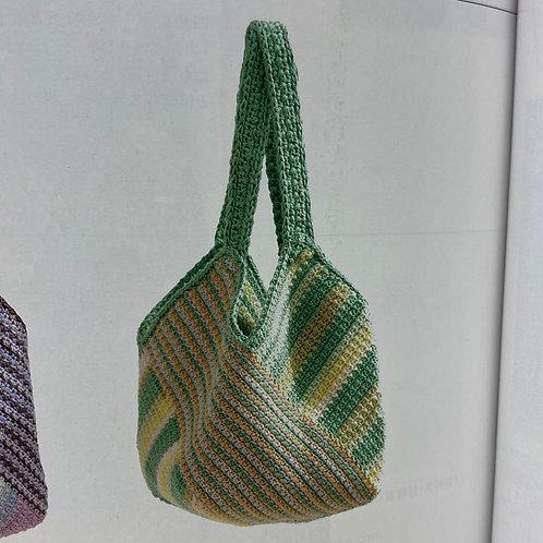 Crochet Bag Material Kit (Green)