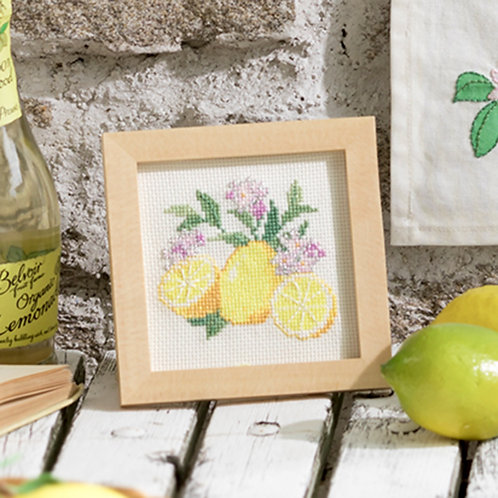 Cross Stitch Mini Frame <Lemon>