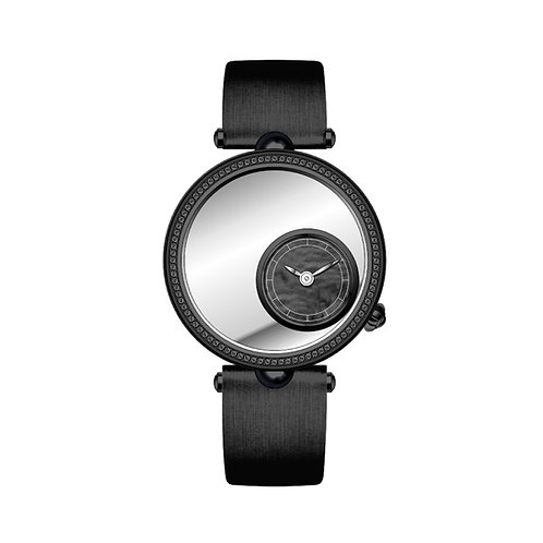Black Diamond Embroidery Watch