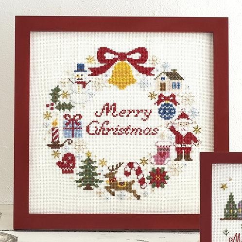 Cross Stitch Frame <Christmas Wreath>
