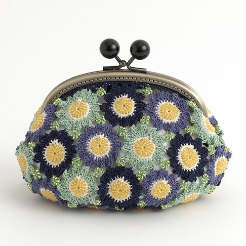 Blue Flower Beads Pouch (Material Set)