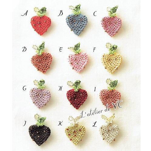Strawberry Motif Necklace & Ear Rings material kit