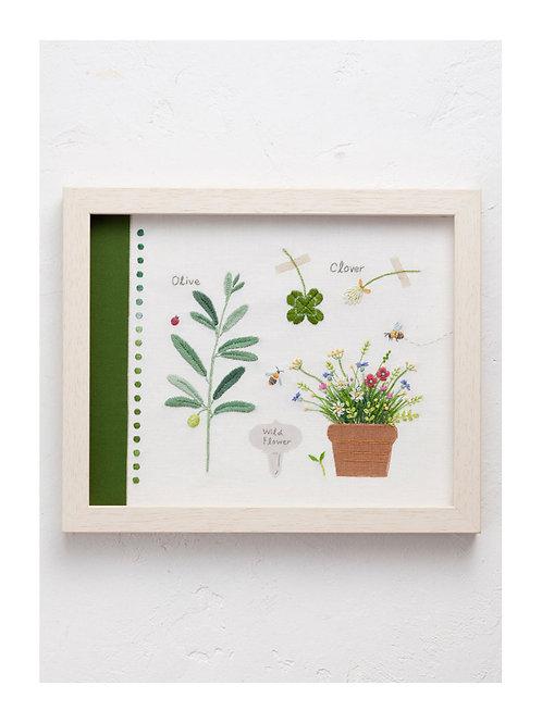 青木和子 6 Colors Embroidery Kit - Green