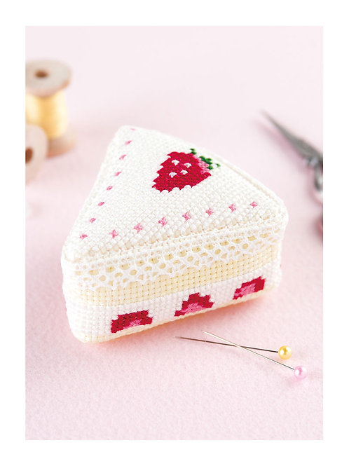 Strawberry Cake House Pin Cushion