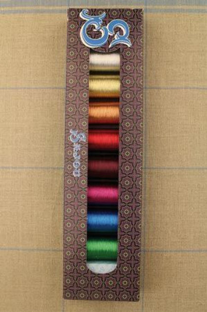 SAJOU SELECTION BOX - EIGHT SPOOLS METALLIC THREAD 100M
