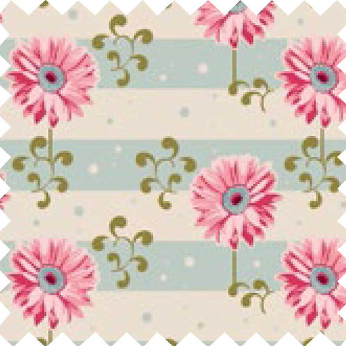 Tilda Gerbera Pink Fabric (by 0.5m)