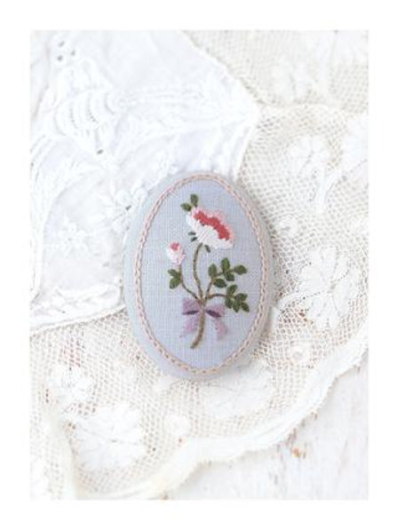 Antique Rose Embroidery Brooch Material Kit