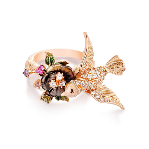 Flower and Bird Ring