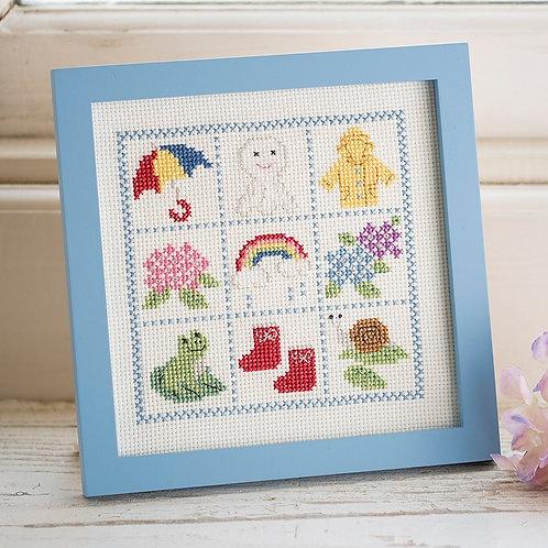 Cross Stitch Frame <Rainy Day>