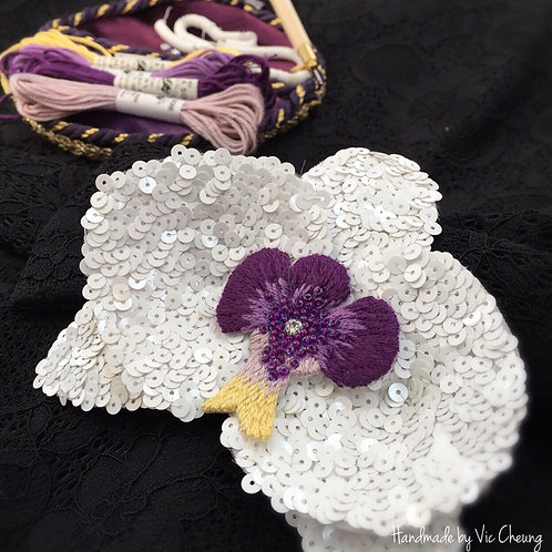 Haute Couture - Orchid Corsage Embroidery Lesson