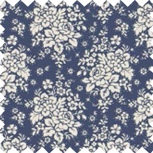 Tilda Audrey Dark Blue Fabric (by 0.5m)