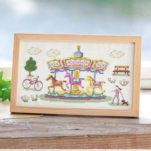 Cross Stitch Frame <Merry-go-round>