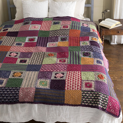 Crochet Patchwork Spread (Material Set)