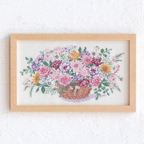 Cross Stitch Frame <Flower Basket>