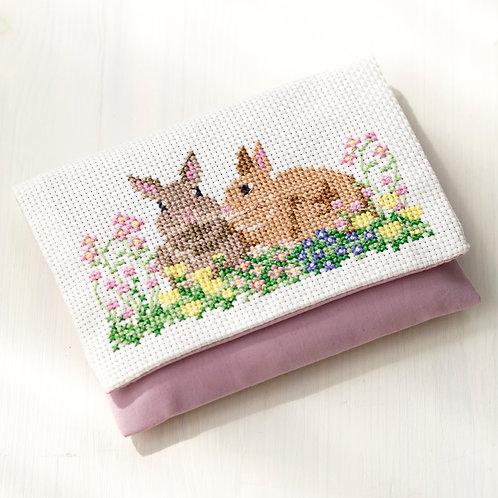 Cross Stitch Tissue Case <Rabbit>
