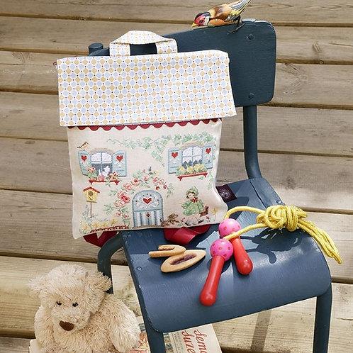 Linen « Little House » School bag