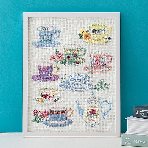Cross Stitch Frame <Tea Cup>
